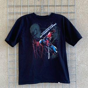 Kids Boys Disney Spider Man Black Shirt Sleeve Tee
